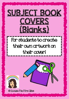 BACK TO SCHOOL BOOK SUBJECT COVERS (BLANKS)