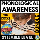 BOOM CARD PHONOLOGICAL AWARENESS SYLLABLE SORT COUNT SEGMENT BLEND DELETE ADD