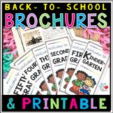 BACK TO SCHOOL BROCHURES & PRINTABLE (EDITABLE & Pre-K-5th Grade)
