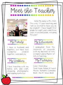 BACK TO SCHOOL BROCHURES & PRINTABLE (EDITABLE & Pre-K-5th Grade)