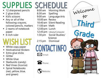 BACK TO SCHOOL BROCHURE (trifold)