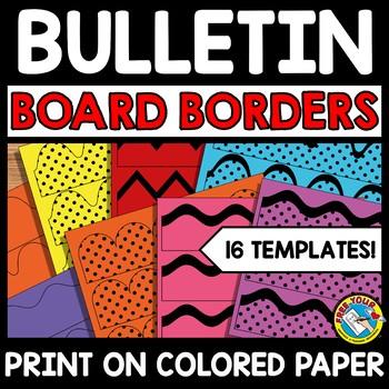 BACK TO SCHOOL BULLETIN BOARD BORDERS POLKA DOT AND PLAIN TEMPLATES