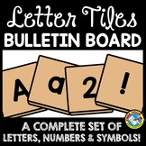 BACK TO SCHOOL BULLETIN BOARD LETTERS PRINTABLE (A-Z, NUMBERS, SYMBOLS) TILES
