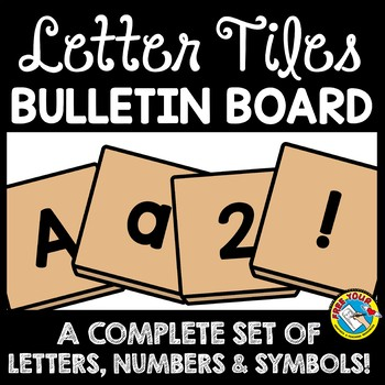 back to school bulletin board letters printable a z numbers symbols tiles