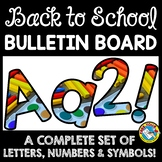 BACK TO SCHOOL BULLETIN BOARD LETTERS PRINTABLE (ART SUPPLIES)