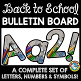 BACK TO SCHOOL BULLETIN BOARD LETTERS PRINTABLE (SCHOOL SUPPLIES)