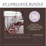 BACK TO SCHOOL!! AP LANGUAGE BUNDLE!! (*AP Appropriate)