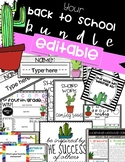 EDITABLE CACTUS BACK TO SCHOOL PACK!