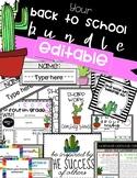 EDITABLE CACTUS BACK TO SCHOOL BUNDLE! BTS sale!