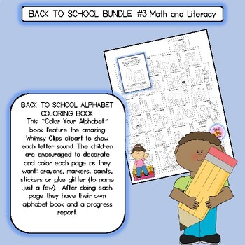 BACK TO SCHOOL BUNDLE #3 Math and Literacy