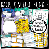 BACK TO SCHOOL BUNDLE: All about Me, Surveys, Class Incentive DISTANCE LEARNING