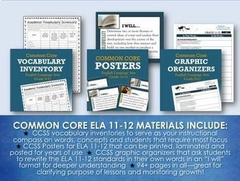 BACK TO SCHOOL BUNDLE FOR ELA GRADES 11-12: 150+ Activities, Posters & More