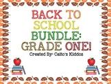 BACK TO SCHOOL BUNDLE - GRADE ONE!!!