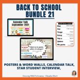 BACK TO SCHOOL BUNDLE SEPT 21: CALENDAR TALK, STAR STUDENT & POSTERS
