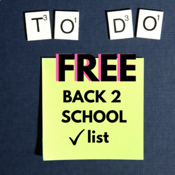 BACK TO SCHOOL CHECKLIST - for parents