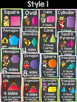 BACK TO SCHOOL CLASS DECOR {2D AND 3D SHAPES}