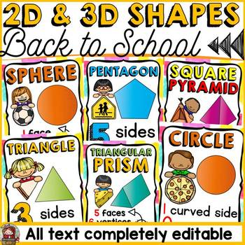 BACK TO SCHOOL CLASS DECOR {2D AND 3D SHAPES}ICE-CREAM CHEVRON