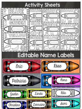 BACK TO SCHOOL CLASS DECOR {CHALKBOARD COLORS, LABELS, NO PREP SHEETS}