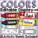 BACK TO SCHOOL CLASSROOM DECOR: EDITABLE COLOR POSTERS: ACTIVITY SHEETS