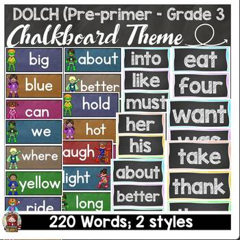 BACK TO SCHOOL CLASS DECOR DOLCH WORD WALL SET {PRE-PRIMER