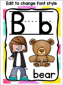 BACK TO SCHOOL CLASS DECOR LETTERS OF THE ALPHABET {POSTERS}