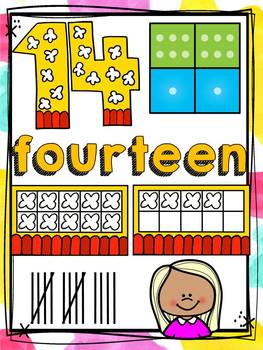 BACK TO SCHOOL CLASS DECOR NUMBERS 1 -20 {KIDS & ICE-CREAM CHEVRON}