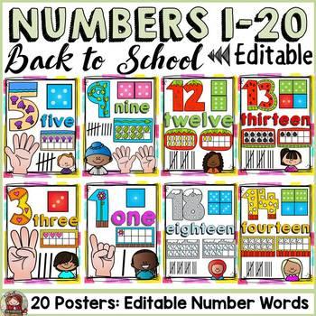 BACK TO SCHOOL CLASS DECOR NUMBERS 1 -20 {KIDS & ICE-CREAM