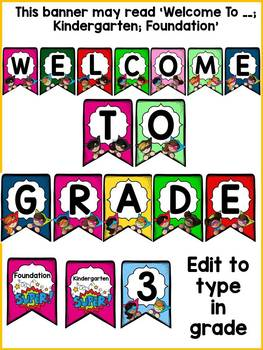 BACK TO SCHOOL CLASS DECOR {WELCOME BACK BUNTING FLAGS}