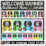 BACK TO SCHOOL CLASS DECOR {CHALKBOARD WELCOME BUNTING FLAGS} ELEMENTARY