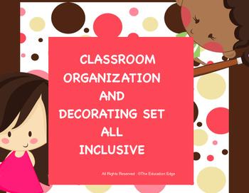 Organization and Decoration Set Neutral Dots