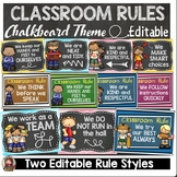 CHALKBOARD CLASS DECOR: EDITABLE CLASSROOM RULES