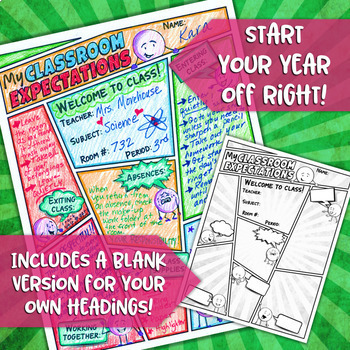 BACK TO SCHOOL CLASSROOM RULES & EXPECTATIONS DOODLE NOTES, INTERACTIVE NOTEBOOK