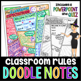 Back to School Classroom Rules and Expectations Doodle Notes