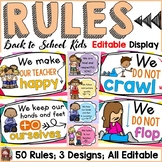 BACK TO SCHOOL - EDITABLE CLASSROOM RULES {ICE-CREAM CHEVRON}