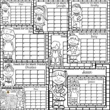 BACK TO SCHOOL CLASSROOM/BEHAVIOR MANAGEMENT REWARD CHARTS {KIDS} BLACKLINE
