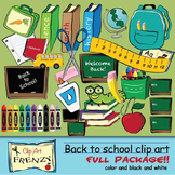 BACK TO SCHOOL BUNDLE FROM CLIP ART FRENZY 70 CLIP ART IMA