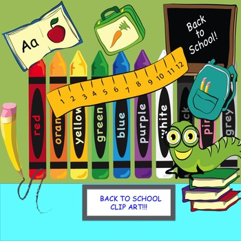 BACK TO SCHOOL CLIP ART FROM CLIP ART FRENZY- 10 COLOR IMAGES