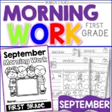 First Grade Morning Work-September