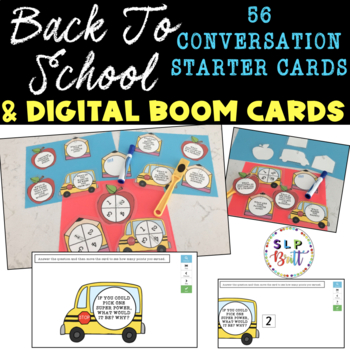 BACK TO SCHOOL, CONVERSATION STARTERS - GET TO KNOW YOU QUESTION CARDS
