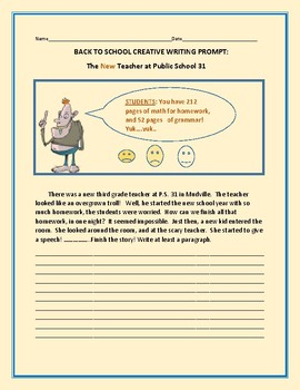 BACK TO SCHOOL CREATIVE WRITING PROMPT: TEACHER OR TROLL?