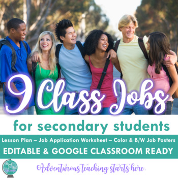 Back to School:Class Jobs Gallery Walk Lesson with Job App