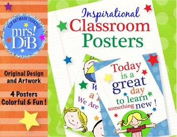 BACK TO SCHOOL -  Class Decor -  Posters !