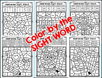 BACK TO SCHOOL {Color by Sight Word and Interactive Slide Show} #christmasinjuly