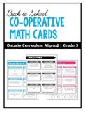 Cooperative Math Cards | Problem-Solving | ONTARIO | Grade 3
