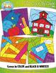 BACK TO SCHOOL Color By Code Clipart {Zip-A-Dee-Doo-Dah Designs}