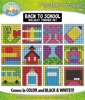 BACK TO SCHOOL Mystery Images Clipart {Zip-A-Dee-Doo-Dah Designs}