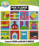 BACK TO SCHOOL Mystery Images Clipart {Zip-A-Dee-Doo-Dah Designs}