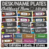 BACK TO SCHOOL EDITABLE DESK NAME PLATES {KIDS AND CLASSIC CHALKBOARD}