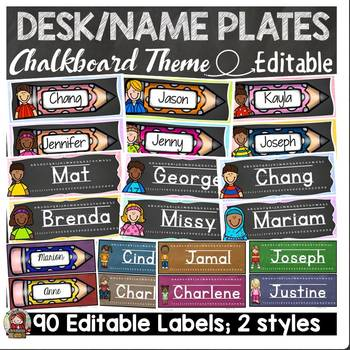 BACK TO SCHOOL EDITABLE DESK NAME PLATES {KIDS AND CLASSIC