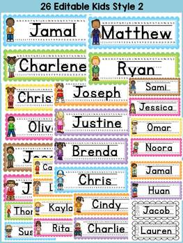 BACK TO SCHOOL DESK NAME PLATES {KIDS AND ICE-CREAM COLORS}